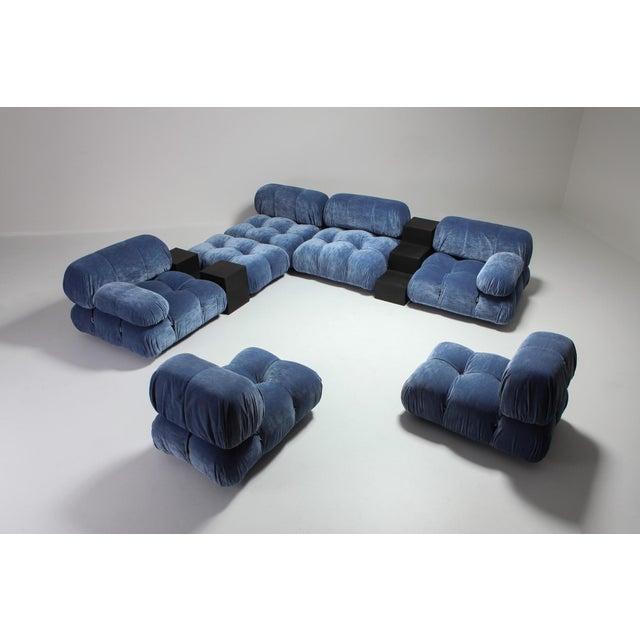 Lead Mario Bellini Camaleonda Sectional Sofa in Blue Velvet For Sale - Image 7 of 9