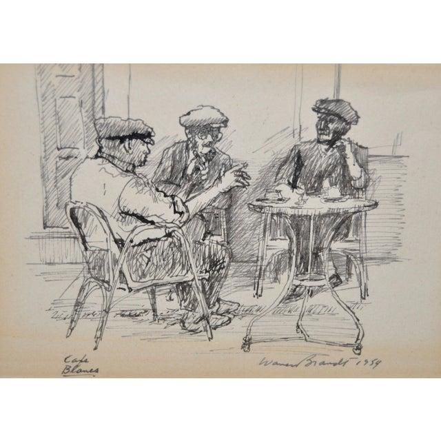 Traditional Original Pen & Ink Drawing by Warren Brandt For Sale - Image 3 of 7