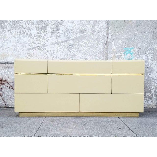Vintage Lane Brass & Ivory Credenza - Image 2 of 5