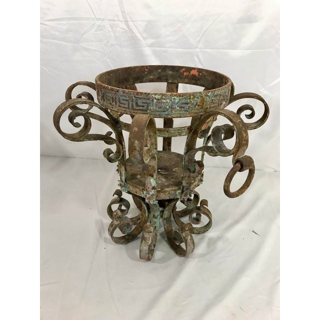 Late 19th Century Wrought Iron Fretwork Planters a Pair For Sale - Image 5 of 13