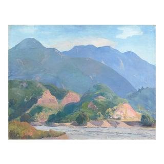 ''Impressionist Western Landscape', Arthur Wesley Dow, Pont Aven, Brittany, Academie Julian, Circa 1920 For Sale