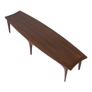American Made Surfboard Coffee Table in Walnut and Rosewood