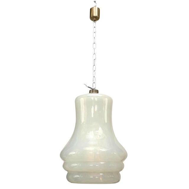 Italian Venetian Murano Opalescent Glass Lantern For Sale