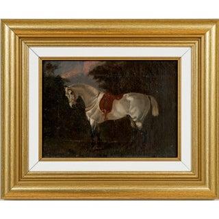 "Horse Portrait"" Shamrock"" (British School, 19th Century) Oil Painting on Canvas For Sale"