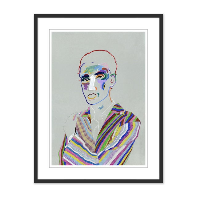 Not Yet Made - Made To Order Set of 6 Portraits by Robson Stannard in Black Frame, XS Art Prints For Sale - Image 5 of 11