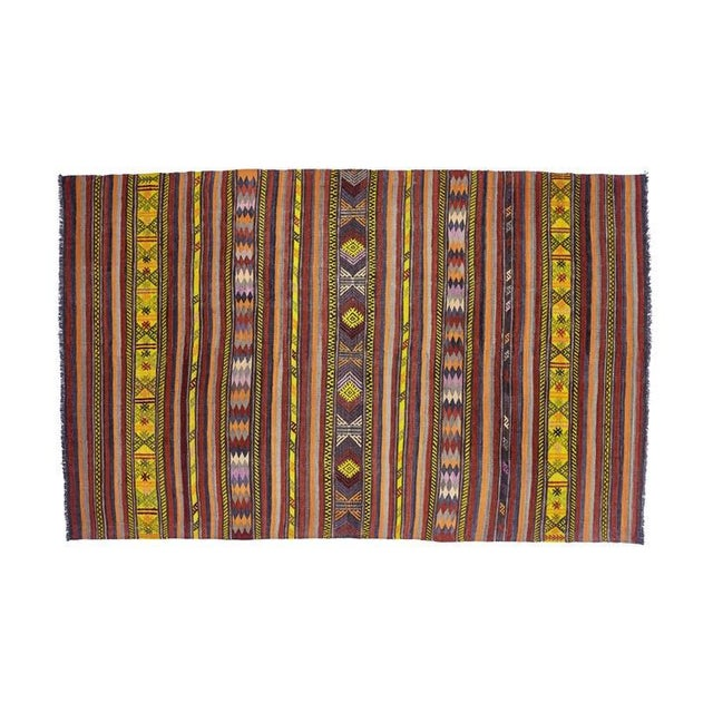 Islamic Vintage Red Turkish Area Rug 6' X 10' For Sale - Image 3 of 6