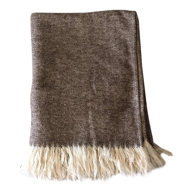 Brown & Ivory Woven Cotton Throw - Image 1 of 10