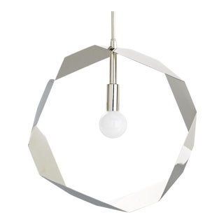 Jay Jeffers Polished Nickel Annie Pendant For Sale