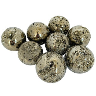 "Small 2"" Diameter Small Polished Pyrite Spheres For Sale"