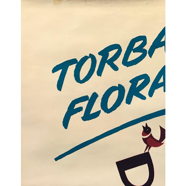 1960s Italian Agricultural Poster, Torba Flora (Man on a Tractor) For Sale - Image 6 of 9