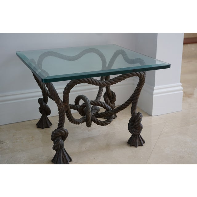 Vintage Rope Side Table For Sale In Miami - Image 6 of 8