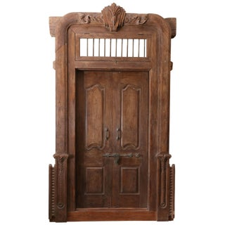 Mid 19th Century Vintage Fortress Type Door For Sale