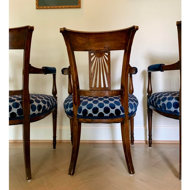 Late 18th Century Late 18th Century Vintage French Armchairs- Set of 4 For Sale - Image 5 of 11
