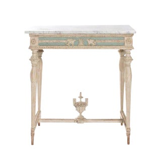 Swedish Empire Neoclassical Console With Marble Top For Sale