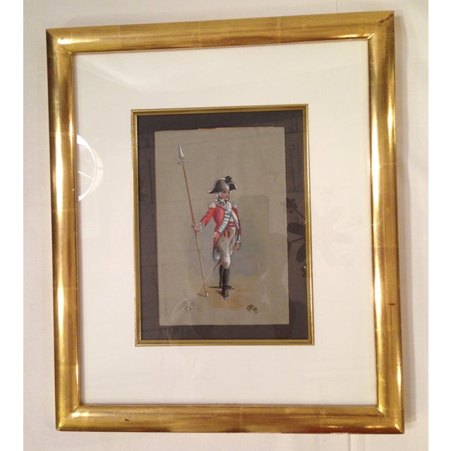 1890s Military Man Gouache Painting - Image 2 of 6