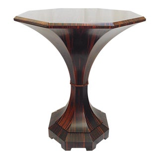 Lucien Rollin Macassar Ebony Tulip Table For Sale