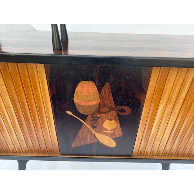 Late 1950's Mid Century Inlaid Bar For Sale In Los Angeles - Image 6 of 11
