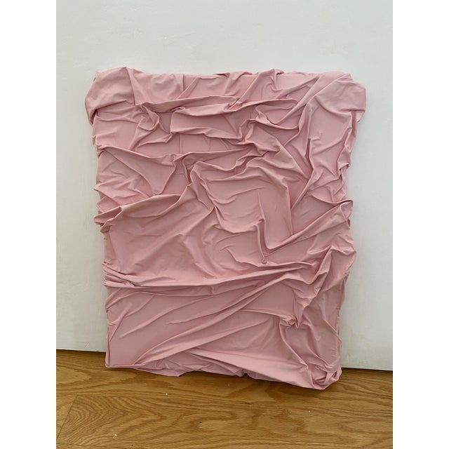 16x20 light pink contemporary minimalist abstract original texture painting wall sculpture by Jordan Samuels. The sides...