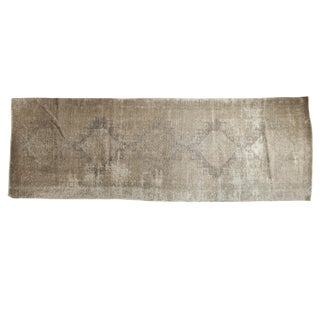 "Distressed Oushak Runner - 4'4"" X 12'9"" For Sale"