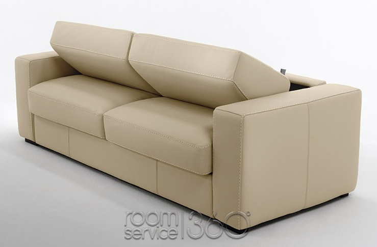 Capri Italian Leather Sleeper Sofa