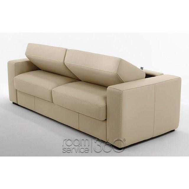Capri Italian Leather Sleeper Sofa - Image 3 of 7