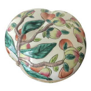 Chinese Porcelain Peach Box