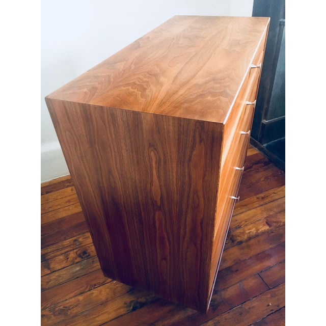 Contemporary George Nelson for Herman Miller Walnut Thin Edge Dresser For Sale - Image 3 of 9