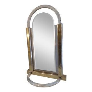 Modern Lucite Mirror For Sale