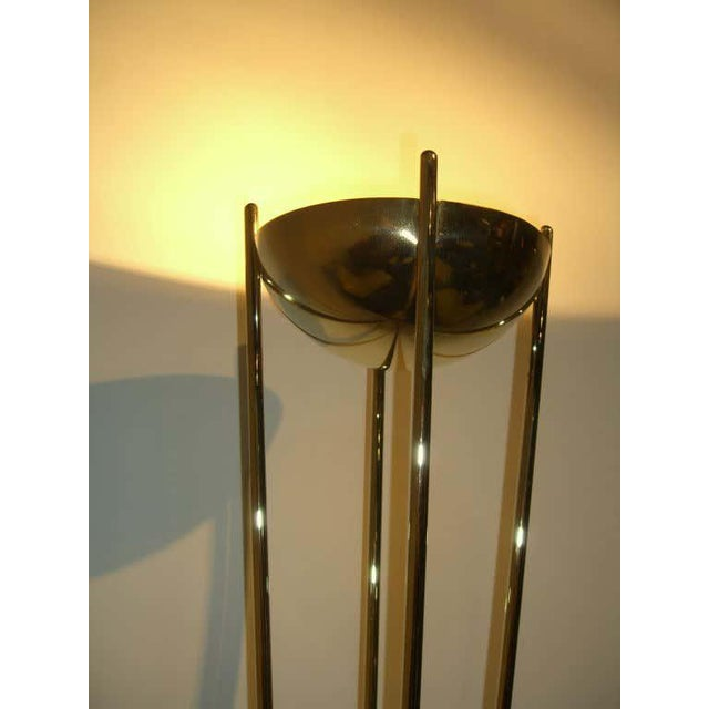 Mid-Century Modern Relux of Milan Italy Brass Halogen Torchiere For Sale - Image 3 of 9