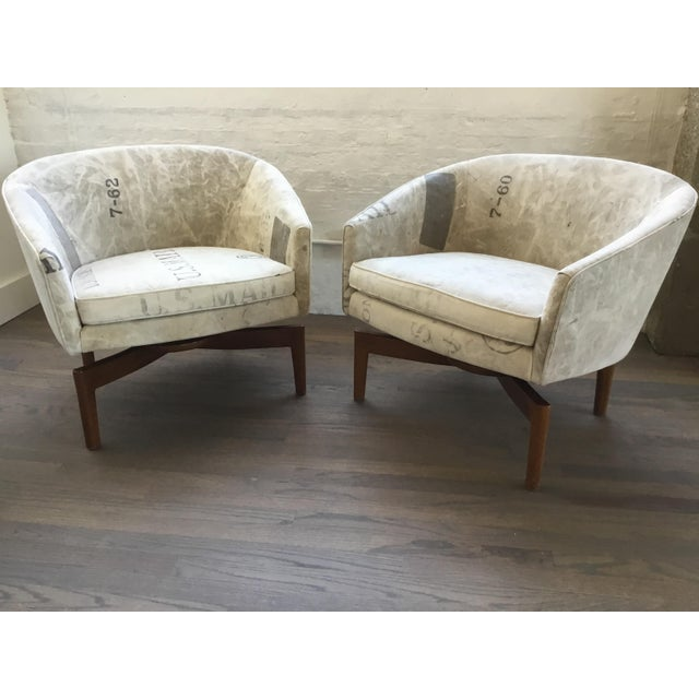 Mid Century Modern Jens Risom Club Lounge Chairs - a Pair For Sale - Image 13 of 13