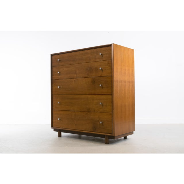 1960s Mid-Century Modern Walnut Chest of Drawers by Ramseur For Sale - Image 5 of 11