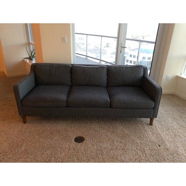 White West Elm Hamilton Sofa For Sale - Image 8 of 8