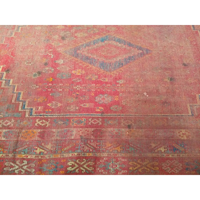 19th Century Moroccan Village Rug - 5′10″ × 14′5″ For Sale In Chicago - Image 6 of 13