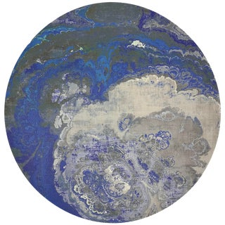 "Nicolette Mayer Agate Sodlaite 16"" Round Pebble Placemat For Sale"