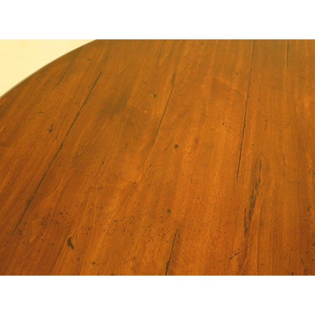 Guy Chaddock Round Distressed Wood Dining Room Table For Sale In Philadelphia - Image 6 of 8