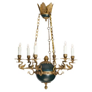 French Empire Swan Chandelier For Sale