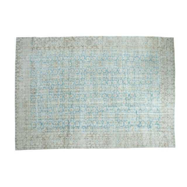 "Distressed Oushak Carpet - 8'10"" X 12'4"" - Image 1 of 10"