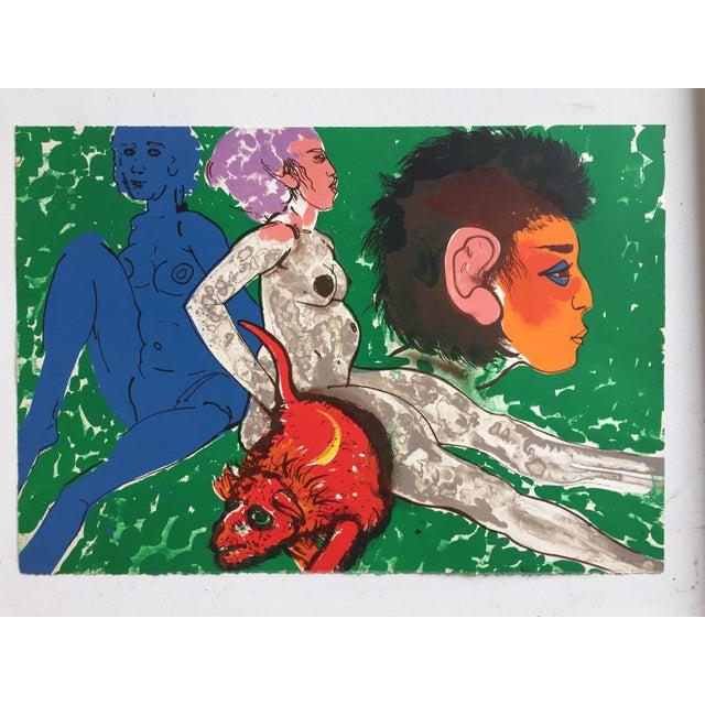 "Robert Beauchamp Original Lithograph ""Red Rat"" - Image 2 of 8"