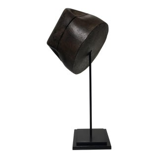 French Fedora Style Wooden Hat Mold For Sale