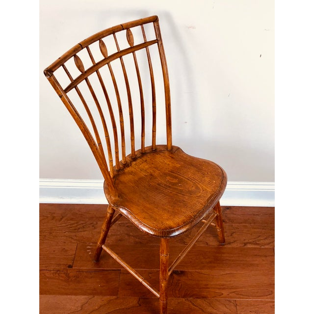 Early 19th Century Antique Fan Back Windsor Chair For Sale In Jacksonville, FL - Image 6 of 9