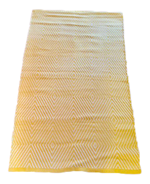 Indoor Outdoor Rug Bright Yellow White 3 X 5 Chairish