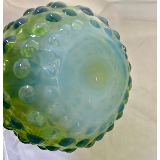 Handblown Green Hobnob Vase Chairish