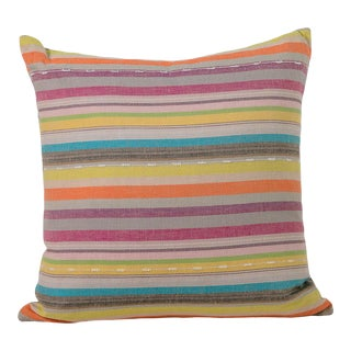 Boho Chic Turkish Striped Pillow For Sale