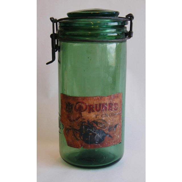 1930s Vintage French Labeled & Lidded Canning Preserve Jars - Set of 3 - Image 7 of 8