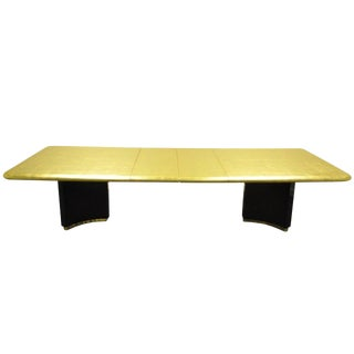 Art Deco Gold Leaf Maison Jansen Style Extension Dining/Conference Table For Sale