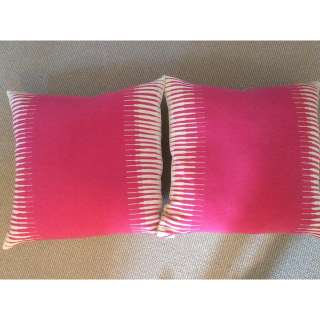 Manuel Canovas Kazan in Rose Indien Down Filled Pillows - A Pair - Image 3 of 5