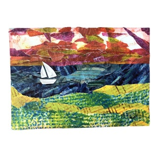"Nancy Smith ""Sail On"" Original Nautical Collage For Sale"