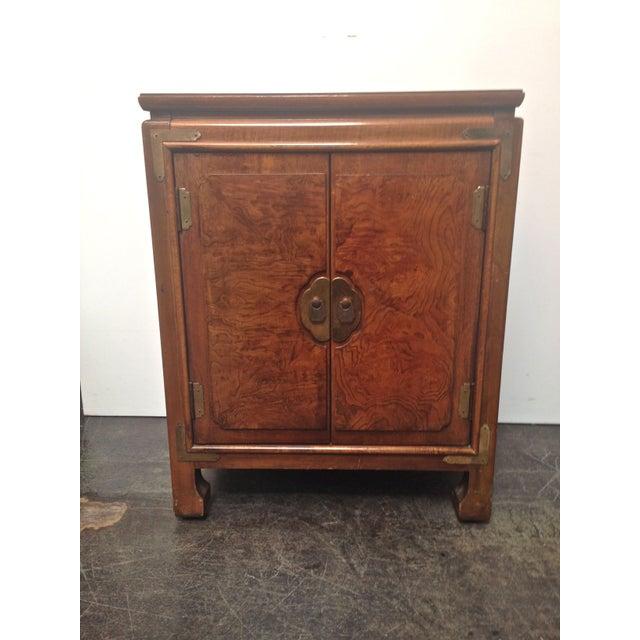 Thomasville Burled Asian Style Cabinet - Image 2 of 8