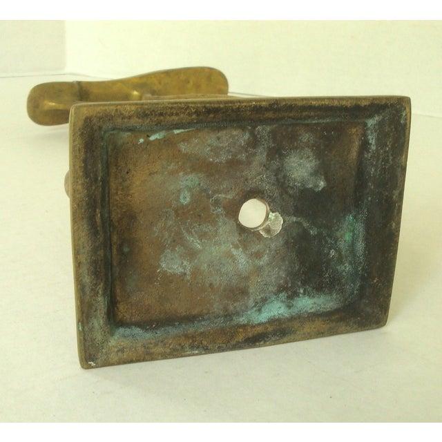 Vintage Sculptural Brass Cobbler's Shoeshine Stand For Sale - Image 5 of 5