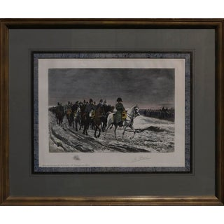 """Late 19th Century """"La Campagne De Russie"""" Hand Colored Engraving For Sale"""
